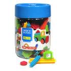 Seeko Blocks: színes tüske építő játék, 75 db-os