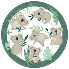 Set de 8 farfurii albe cu model coala - 23 cm