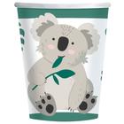 Set de 8 pahare carton cu model coala - 250 ml
