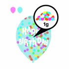 Set de 6 baloane umplute cu confeti colorate și inscripție