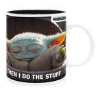 Star Wars Mandalorian: Baby Yoda Meme cană ceramică - 320 ml