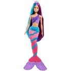 Barbie Dreamtopia: Păpușă cu coafură magica - sirenă