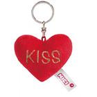 Nici:  Plüss szív kulcstartó - Kiss