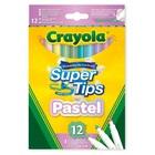 Crayola: Super Tips - set de 12 markere în culori pastelate