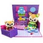 Tiny Tukkins: Set de joacă Cuddle n' Play cu 2 figurine de pluș - vulpi