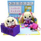 Tiny Tukkins: Preschool Playtime játékszett 2 db plüssfigurával - fehér nyuszi