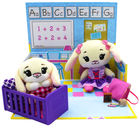 Tiny Tukkins: Set de joacă Preschool Playtime cu 2 figurine de pluș - iepurași albi