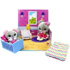 Tiny Tukkins: Set de joacă Naptime Nursery cu 2 figurine de pluș - șoareci