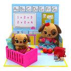 Tiny Tukkins: Set de joacă Preschool Playtime cu 2 figurine de pluș - cățeluș maro