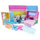 Tiny Tukkins: Set Căsuță Deluxe cu 3 figurine de pluș - cu familie de șoareci