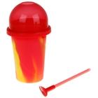 Slushy Maker: Színkavalkád jégkásakészítő készlet- piros