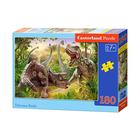 Castorland: Lupta dinozaurilor - puzzle cu 180 piese