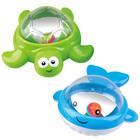 Playgo: Jucărie de baie pentru bebeluși - balenă și broască țestoasă