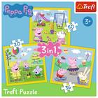 Trefl: Peppa boldog napja 3 az 1-ben puzzle