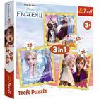 Trefl: Frozen 2 - Puterea lui Anna și Elsa - puzzle 3-în-1