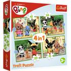 Trefl: Bing și prietenii - puzzle 4-în-1