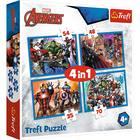 Trefl: Marvel - Rettenthetetlen Bosszúállók 4 az 1-ben puzzle
