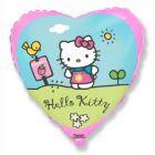 Hello Kitty: Szív alakú fólia lufi - 46 cm
