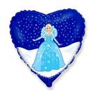 Frozen: Elsa Balon folie în formă de inimioară - 46 cm