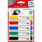 Faber-Castell: Set markere pentru textile - 5 buc