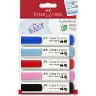Faber-Castell: Set markere pentru textile în culori pastelate - 5 buc