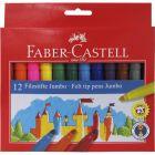 Faber-Castell: Jumbo filctoll készlet - 12db-os