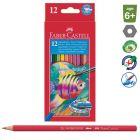 Faber-Castell: Set de creioane colorate acuarelă, cu pensulă - 12 buc