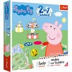 Trefl: Peppa Pig - joc de societate 2-în-1 cu instrucțiuni în lb. maghiară