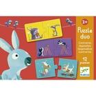 Djeco: Párosító puzzle - Ellentétek