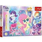 My Little Pony: Micul meu ponei - puzzle glitter cu 100 de piese
