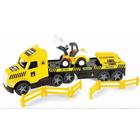 Wader: Magic Truck Technic kamion buldózerrel - 79 cm