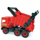 Wader: Middle Truck dömper, 38 cm - piros