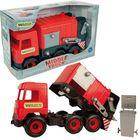 Wader: Middle Truck kukásautó, 42 cm - piros
