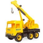 Wader: Middle Truck camion cu macara - 38 cm, galben