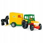 Wader: Traktor lószállító utánfutóval