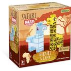 Wader: Baby Blocks Safari építőkockák - zsiráf és láma