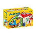 Playmobil 1.2.3.: Teherautó formaválogató garázzsal