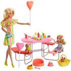 Barbie: Set de joacă Barbie și Chelsea la picnic