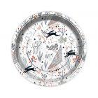 Bolondos nyuszi mintás papír tányér 6 darabos szett - 23 cm