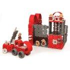 Mini gofri műanyag építőjáték szett -nagy tűzoltóság