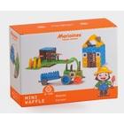 Vafe mici - jucărie de construcție din plastic, ferma mare