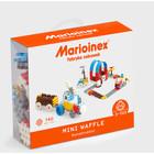 Vafe mici - jucărie de construcție din plastic, set băiețesc cu 140 piese