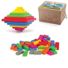 Műanyag építőkocka elemek, 140 db - Junior