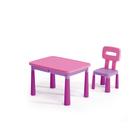 Műanyag asztal székkel - Fukszia
