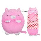 Happy Nappers: 2 az 1-ben hálózsák és párna - Pink cica