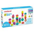 Miniland: Toronyépítő kavicsok egyensúlyozó játék, 30 db-os