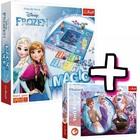 Frozen: Zăpadă magică - joc de societate cu instrucțiuni în lb. maghiară și puzzle 160 piese cadou