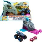 Hot Wheels Monster Trucks: Team Mega-Wrex kilövő szett