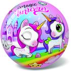 Minge de cauciuc cu model unicorni magici - 23 cm