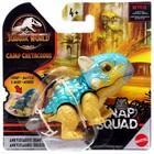 Jurassic World: Snap Squad - Mini figurină dinozaur Ankylosaurus Bumpy s care poate mușca